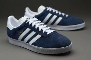 Image is loading Adidas-Gazelle-II-2-marine-white-sneakers-trainers-