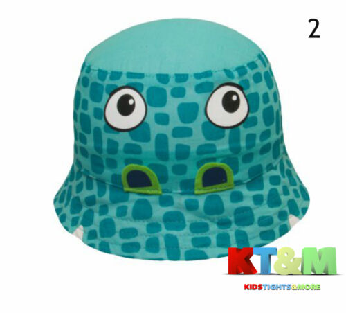 Baby Boy Summer 100/% Cotton Beach Hat Cap Bush//Boonie//Bucket Alligator Size 3-6m