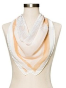 beige white Women/'s A NEW DAY floral fashion scarf NEW