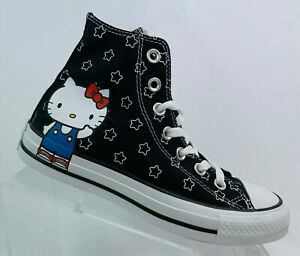 Converse Hello kitty 163919F Color black white directoire blue New with box