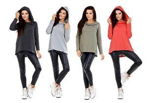 NEU Sweatshirt Pullover Umstandsmode Kapuze lockerer Schnitt Einheitsgröße