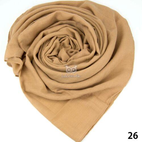 Top Quality Cotton Large Plain Scarf Hijab Shawl Sarong Wrap Maxi Big Long Warm