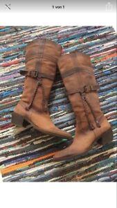 Echt 38 Neue Stiefel Leder Größe Yb76yfgv