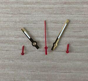 Chronographen-Zeigersatz-Retro-Gold-Rot-fuer-ETA-Valjoux-7733-NOS-Style