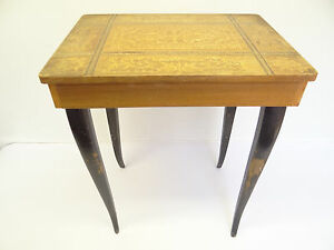 Image Is Loading Vintage Switzerland Broken Music Box Table Desk Inlaid