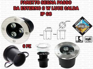 6-FARETTI-LED-DA-INCASSO-3-W-LUCE-CALDA-SEGNA-PASSO-CALPESTABILE-IP68-GIARDINO