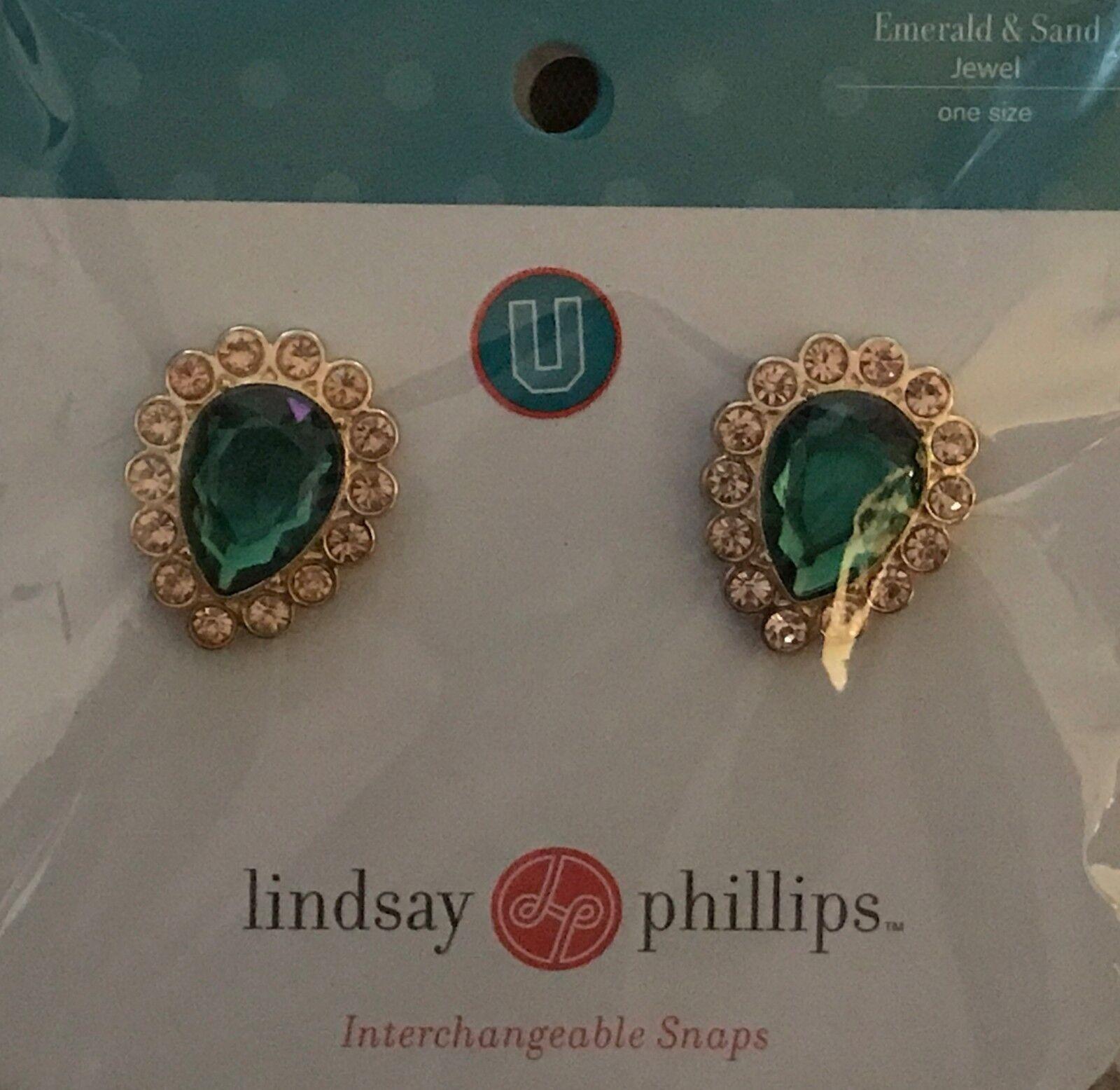 Lindsay Phillips Snap Emerald & Sand (Green)
