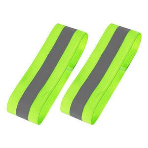 8pcs Reflective Strap Safety Band Bracelet Night Cycling Ride White/&Yellow