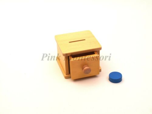 """PinkMontessori Infant Toddler Material /"""" Infant Coin box /"""""""