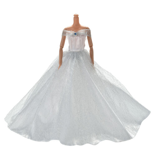 Wedding Dress for s Doll Beautiful Trailing Skirt Weddings Dress 7 ColorHU