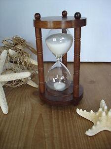 Dekorative Sanduhr Holz Glas Uhren Sand 30 Minuten Zeit 6819 Antikoptik Neu Billigverkauf 50% Uhren
