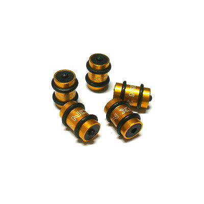 gobike88 XON Alloy Donuts For Brake cables, 5 pieces, Gold, N75