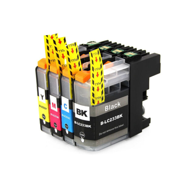 5x for LC233 Ink Cartridges Brother DCP-562DW MFC-480DW MFC-680DW MFC-880DW Chip