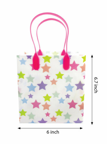 6 Pack Rainbow Themed Themed Party Favor Treat Bags