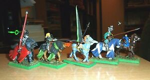 Warhammer-Fantasy-Painted-5-Bretonnian-Questing-GRAIL-Kinghts-NICELY-PAINTED-G