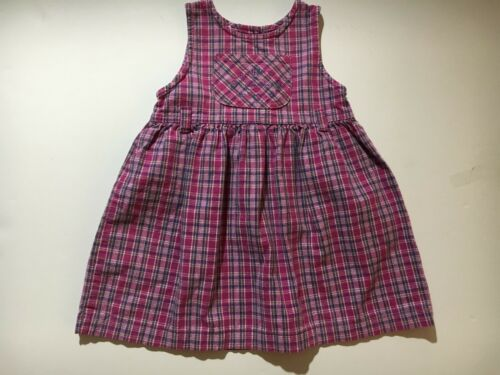 Little girls 90s Original OSHKOSH tartan dress with Back Cutout