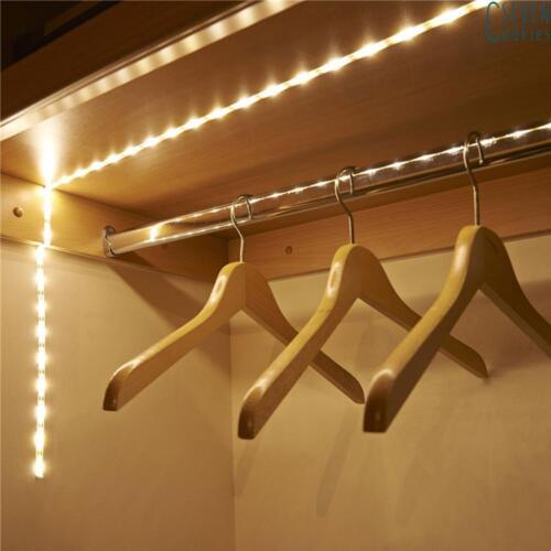 LED lumière Cabinet Lampe Éclairage cuisine maison Placard étagère intérieur 1M