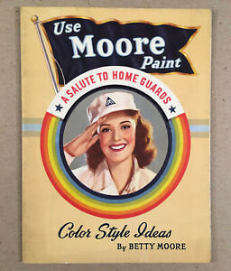 Vintage-BENJAMIN-MOORE-1942-Color-Style-Idea-Booklet-Betty-Moore-WWII-Home-Front