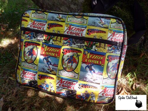 OFFICIAL DC COMICS RETRO SUPERMAN COMIC COVER PRINT MESSENGER// SHOULDER BAG