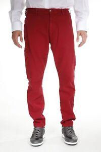 l'atteggiamento migliore f6396 c35ac Dettagli su Pantaloni Armani Jeans AJ Jeans Trouser MADE IN ITALY Uomo  Rosso Z6P22EX 24