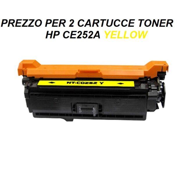 CARTUCCIA YELLOW PER STAMPANTE (SET DA2 )HP COLORJET CP3525 CM3530 CE252A 504A