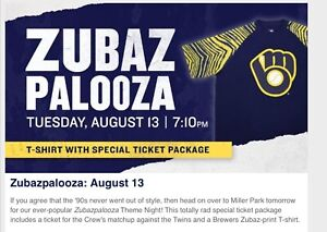 2019-Milwaukee-Brewers-1990s-Zubaz-Shirt-2XL-Theme-Night-SGA-8-13-Zubazpalooza