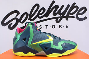 reputable site cd9c0 1953a Image is loading NIKE-LEBRON-XI-GS-DARK-SEA-VOLT-GAMMA-