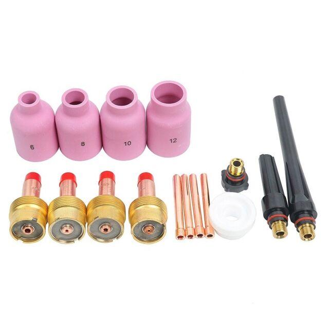 YaeTek 16pcs TIG Welding Gas Lens Kit 0.040-1//16-3//32-1//8 For Torch WP17//18//26