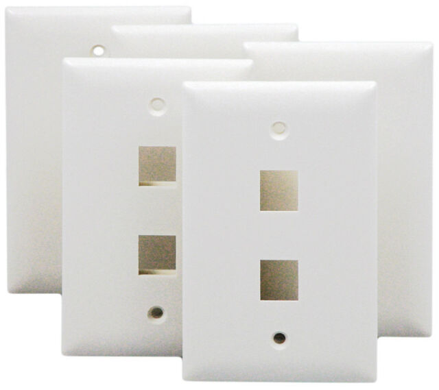 On-Q WP3402WH25 1Gang 2Port Wall Plate 25 pieces White Legrand