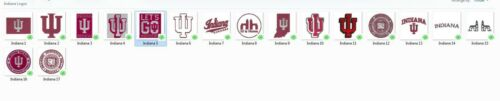12 Formats 17 Indiana University Machine Embroidery Designs CD//USB//Floppy