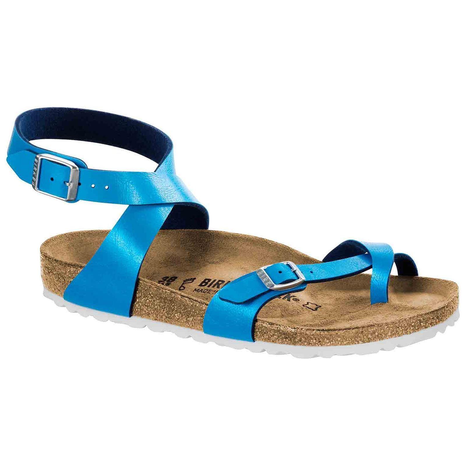 Último gran descuento Birkenstock Yara Graceful Ocean Womens Birko-Flor Ankle Strap Toe-post Sandals