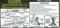 1976-77 Chevy Truck Jack Instructions