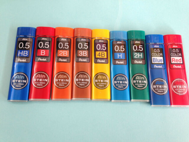 Pentel Ain Stein 0.5mm pencil leads x 5 tubes   GBP7.99  FREE POSTAGE *SALES