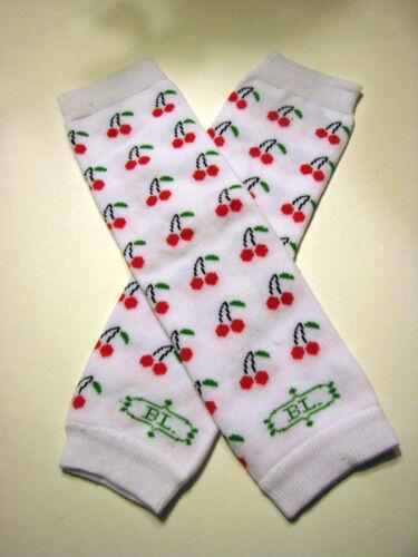 girls infant toddler child leg warmers arm warmers cherries