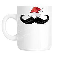 Christmas Moustache Funny Gift Mug shan763