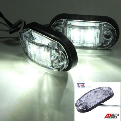 2 X 12V 2 SMD LED WHITE MARKER LIGHTS FOR IVECO DAF MAN SCANIA MERCEDES VOLVO