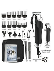 Wahl Deluxe Chrome Pro 25-Pc Complete Haircut Cutting Kit Hair ... 52c3745da8