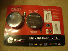 GE Ultra Pro HDTV Installation Kit 2 Pack with Single Brush Wall Plates