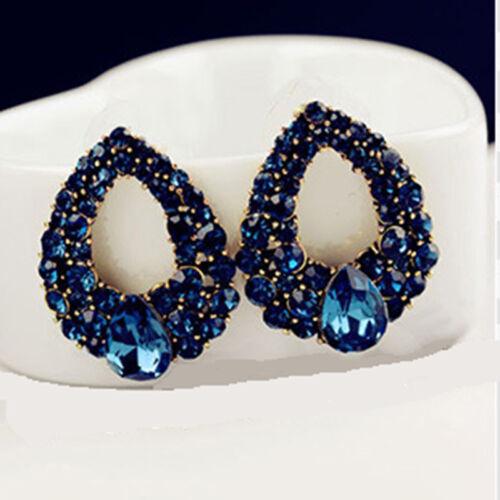 Mode wunderschöne Schöne Ohrringe Diamant Saphir Ohrhänger
