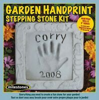 Midwest Products Kids Garden Handprint Stepping Stone Kit, New, Free Shipping
