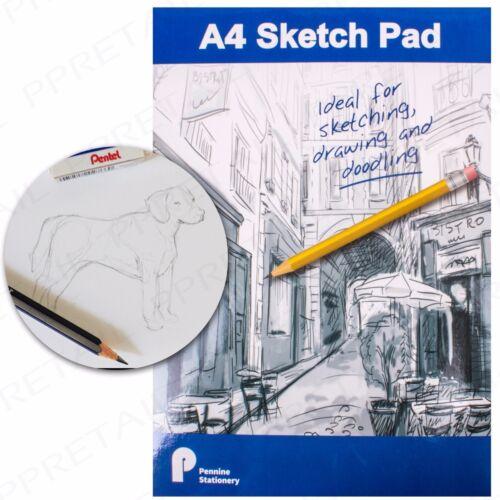 A4 FLIP-UP SKETCH PAD PACKS Drawing Doodling Sketching 70gsm Paper Art//Artists