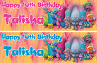 2x PERSONALISED BIRTHDAY BANNER TROLLS BALLOON 1st 2nd 3rd-any name age