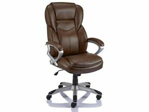 Staples Giuseppe Brown Executive Leather Office Managers Chair Free 24h Del 718103249447 Ebay