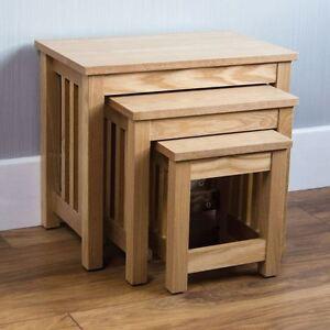 Image Is Loading Ashton Nest Of 3 Tables Ash Veneer Set