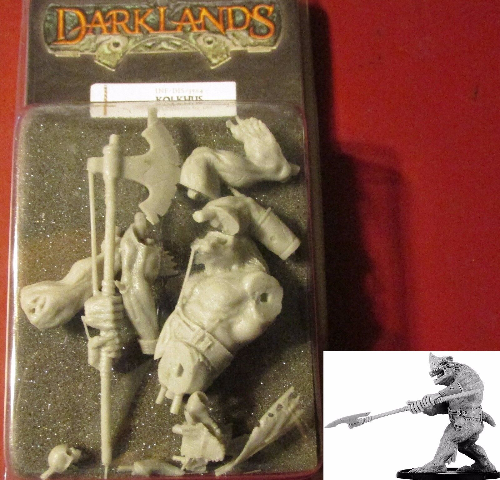 Darklands INF-DIS-3504 Kholkus Lowly Fiend of Dis (1) Miniature Demon Warrior
