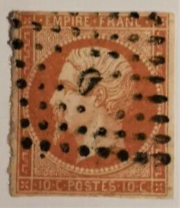 """Timbre EMPIRE NON DENT. N° 13- I c- OBLIT.(TB TB855-1) Oblit. Los. Bur. Paris """"D"""