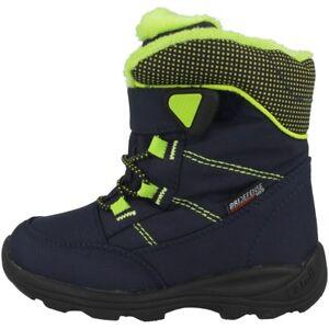 Bien éDuqué Kamik Stance Chaussures Enfants Bottes D'hiver Boots Bottes Navy Lime Nf9125-nlm-afficher Le Titre D'origine