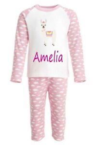 Personalised Childrens Kids Printed INITIAL Pajamas Pyjamas PJ/'s ANY NAME UNISEX