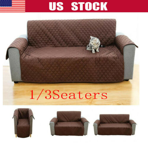 Recliner Sofa Couch Cover Pet Dog Kids Mat Protector Sofa Cover Waterproof 1//2//3