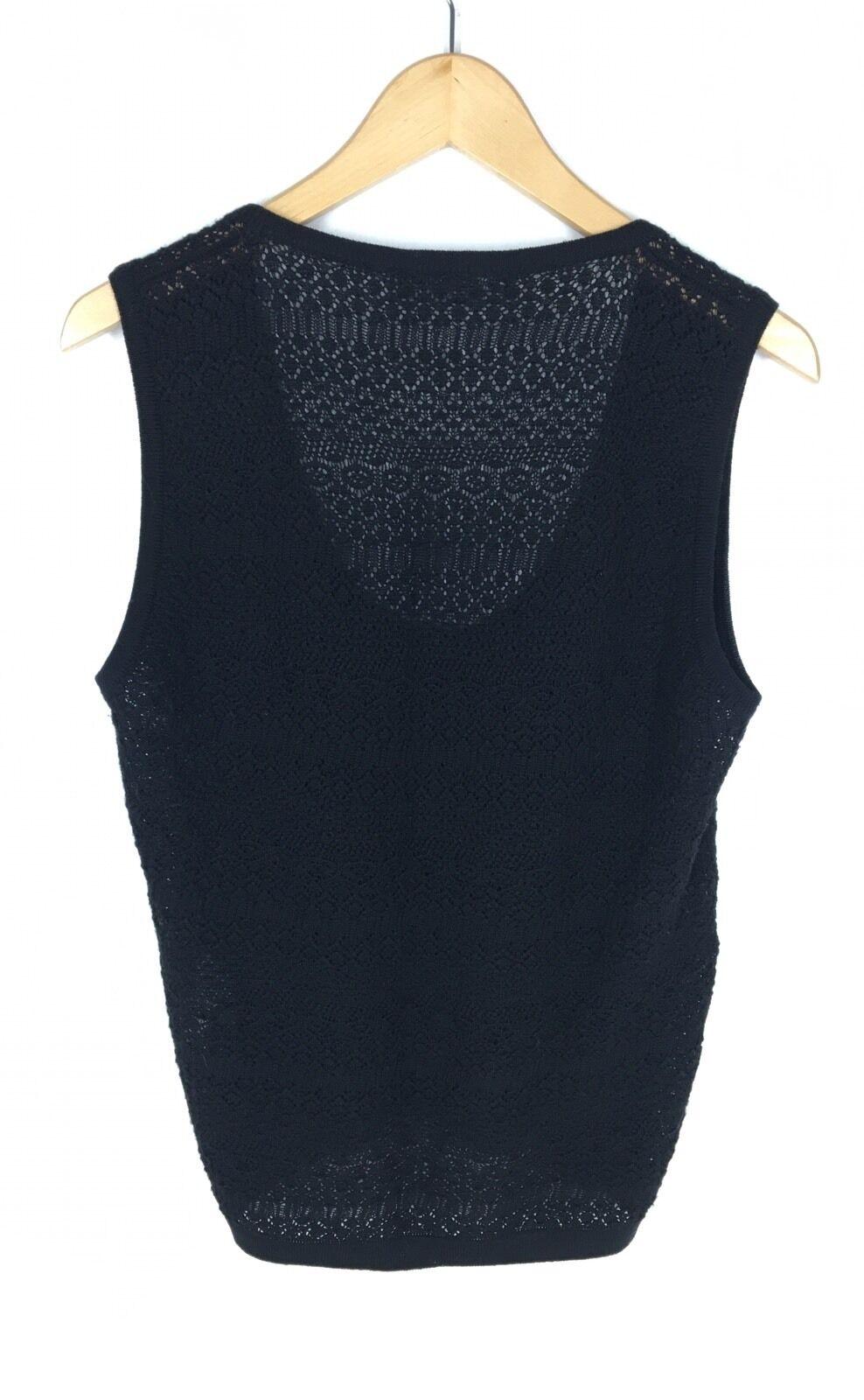 Dolce & Gabbana Size 44 Black Knit Wool Top - image 3